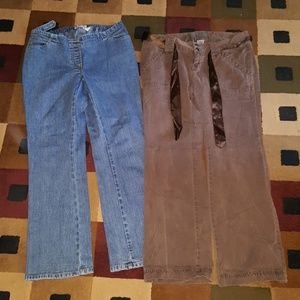 OLD NABY MATERNITY pants lot of 2